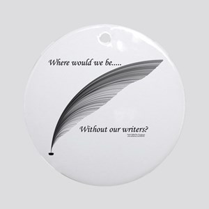 Writers Ornament (Round)