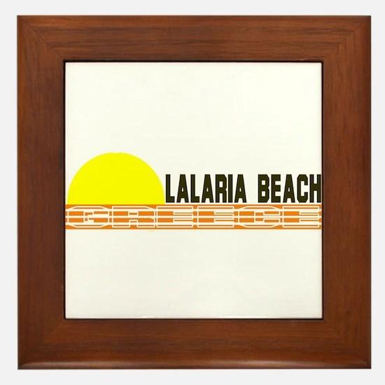 Lalaria Beach, Greece Framed Tile