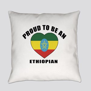 Ethiopian Patriotic Designs Everyday Pillow