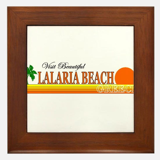 Visit Beautiful Lalaria Beach Framed Tile