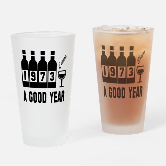 1973 A Good Year, Cheers Drinking Glass