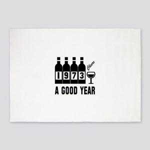 1973 A Good Year, Cheers 5'x7'Area Rug