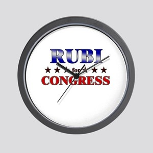 RUBI for congress Wall Clock