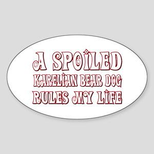 Spoiled Karelian Oval Sticker