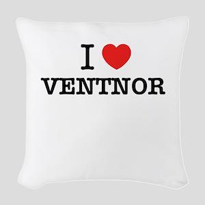 I Love VENTNOR Woven Throw Pillow