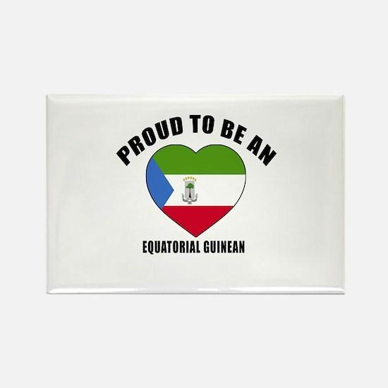 EQUATORIAL GUINEAN Patriotic Desi Rectangle Magnet