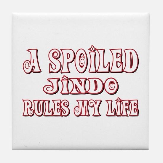 Spoiled Jindo Tile Coaster