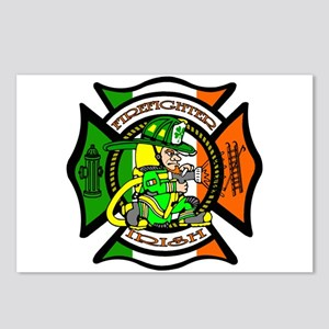 Firefighter-Irish Postcards (Package of 8)