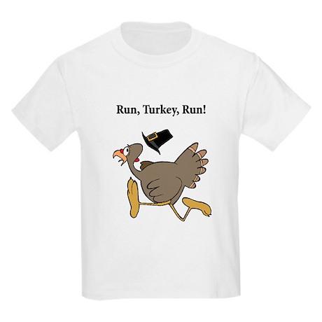 RUN TURKEY RUN Kids Light T-Shirt