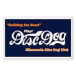 MN DiscDog Club Rectangle Sticker