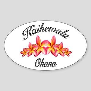 KAIHEWALU OHANA Oval Sticker