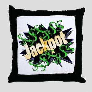 Jackpot Winner Throw Pillow