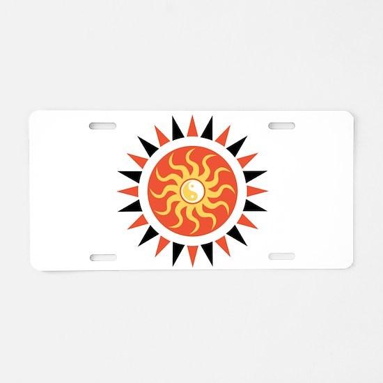 Yin yang sunshine Aluminum License Plate