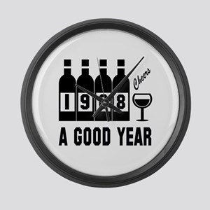 1968 A Good Year, Cheers Large Wall Clock