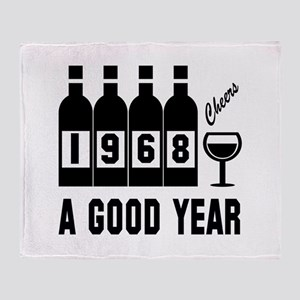 1968 A Good Year, Cheers Throw Blanket