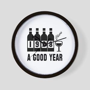 1968 A Good Year, Cheers Wall Clock