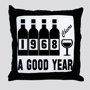 1968 A Good Year, Cheers Throw Pillow