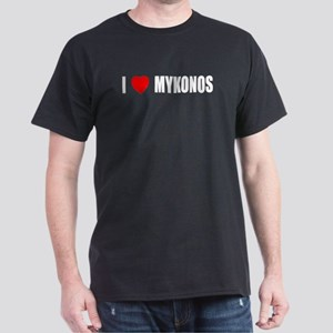 I Love Mykonos, Greece Dark T-Shirt