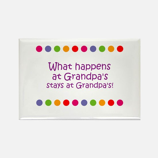 What happens at Grandpa's sta Rectangle Magnet