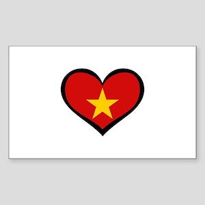 Vietnamese Love Rectangle Sticker
