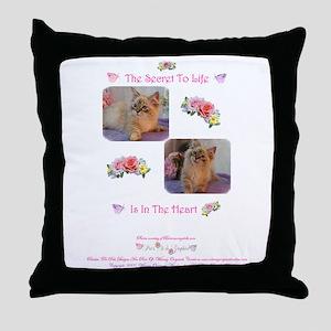 Secret of Life Throw Pillow