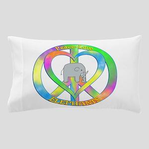 Peace Love Elephants Pillow Case