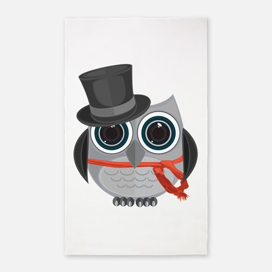 Top Hat Owl - Christmas Area Rug