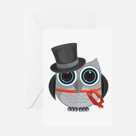 Top Hat Owl - Christmas Greeting Cards