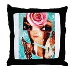 TURQUOISECRO'S SWEET Throw Pillow