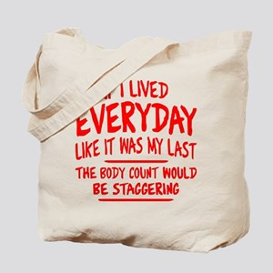Staggering Body Count Tote Bag