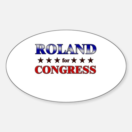 ROLAND for congress Oval Decal