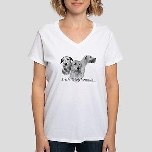3 IR Wolfhound Women's V-Neck T-Shirt