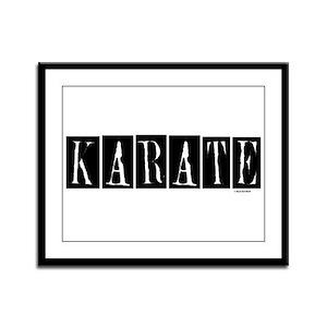 """""""Karate"""" 1 Framed Panel Print"""
