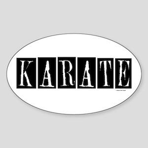 """Karate"" 1 Oval Sticker"