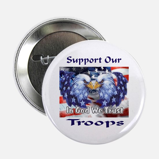 """Support Our Troops 2.25"""" Button"""