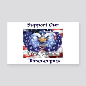 Support Our Troops Rectangle Car Magnet