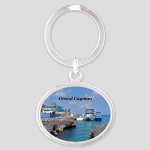 Grand Cayman Oval Keychain