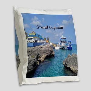 Grand Cayman Burlap Throw Pillow