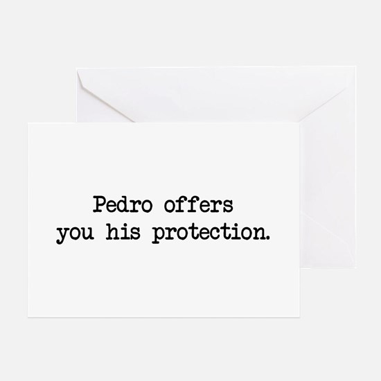 Pedro Protection (blk) - Napoleon Greeting Cards