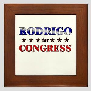 RODRIGO for congress Framed Tile