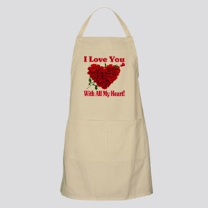 I Love You With All My Heart! Apron