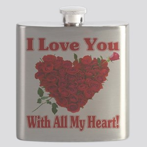 I Love You With All My Heart! Flask