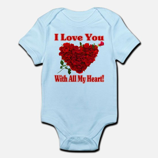 I Love You With All My Heart! Body Suit