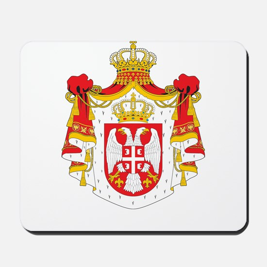 Serbia coat of arms Mousepad