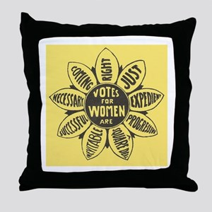 Votes for Women Throw Pillow