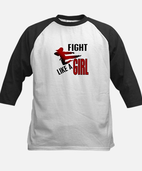 Fight Like a Girl 4.1 Kids Baseball Jersey