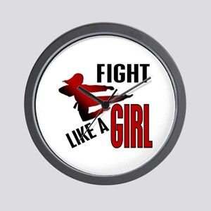 Fight Like a Girl 4.1 Wall Clock