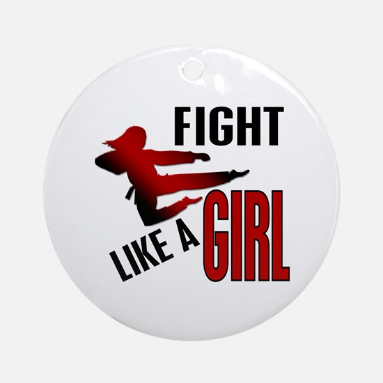 Fight Like a Girl 4.1 Ornament (Round)