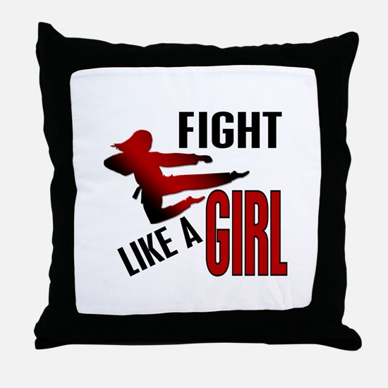 Fight Like a Girl 4.1 Throw Pillow