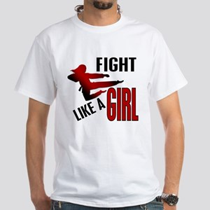 Fight Like a Girl 4.1 White T-Shirt